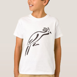 Kids' Hanes TAGLESS® T-Shirt with Stylized Hoatzin design