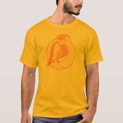 Men's Basic T-Shirt with Stylized Hornbill design