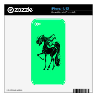 Stylized horse design decals for the iPhone 4S