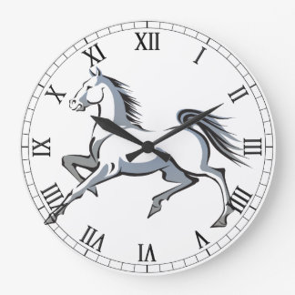 Stylized Horse Wall Clock