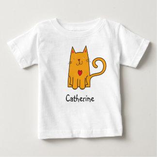 Stylized Illustration of a Cute Orange Cat T-shirt