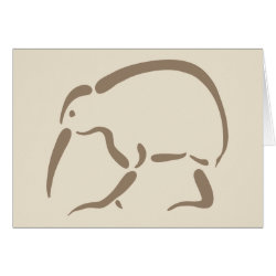 Stylized Kiwi Greeting Card