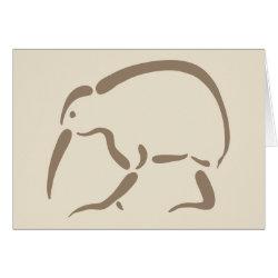 Greeting Card with Stylized Kiwi design