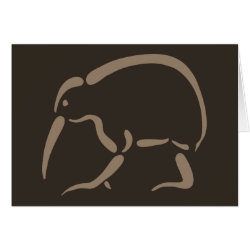 Greeting Card with Stylized Kiwi design