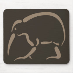 Mousepad with Stylized Kiwi design