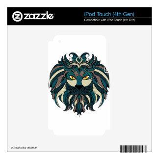Stylized Lion Head 2 iPod Touch 4G Skin