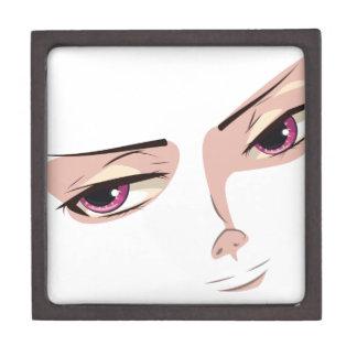 Stylized Male Face Keepsake Box