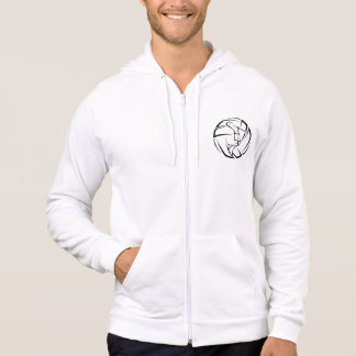 Stylized Male Volleyball Player with Ball Hoodie