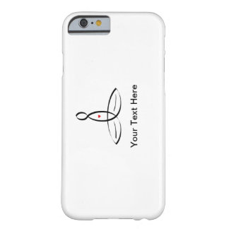 Stylized meditator with customizable text barely there iPhone 6 case
