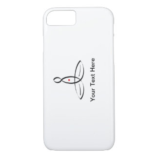 Stylized meditator with customizable text iPhone 7 case