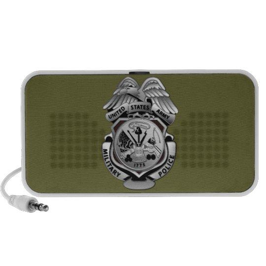 Stylized Military Police Badge Mini Speaker