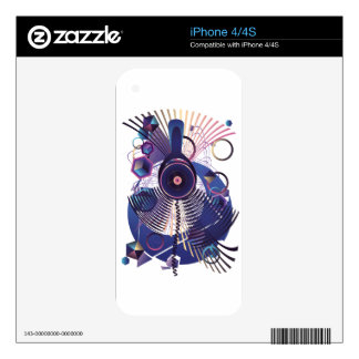 Stylized Music Poster 2 Skins For iPhone 4S