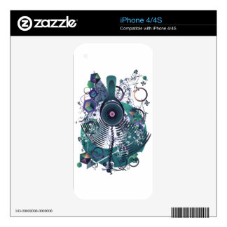 Stylized Music Poster Skins For iPhone 4