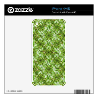 Stylized Nature Pattern Design Skin For The iPhone 4S