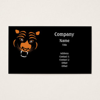 Stylized orange tiger business card