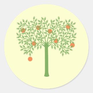 Stylized Orange Tree Stickers