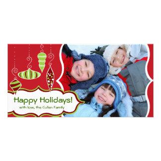 Stylized Ornaments Holiday Photo Card