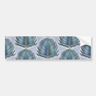 Stylized Peacock Feather - blue Bumper Sticker