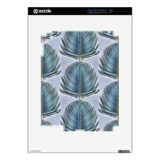 Stylized Peacock Feather - blue Decal For iPad 2
