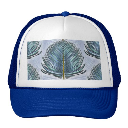 Stylized Peacock Feather - blue Trucker Hat