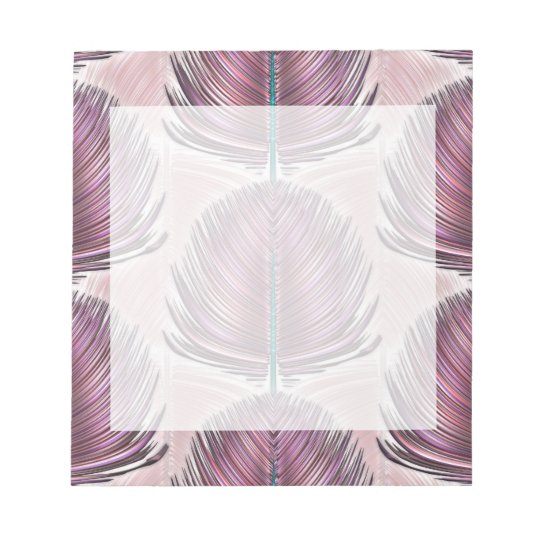 Stylized Peacock Feather - pink Notepad