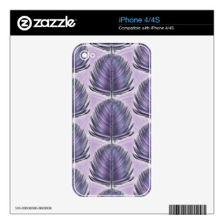 Stylized Peacock Feather - purple iPhone 4S Skins