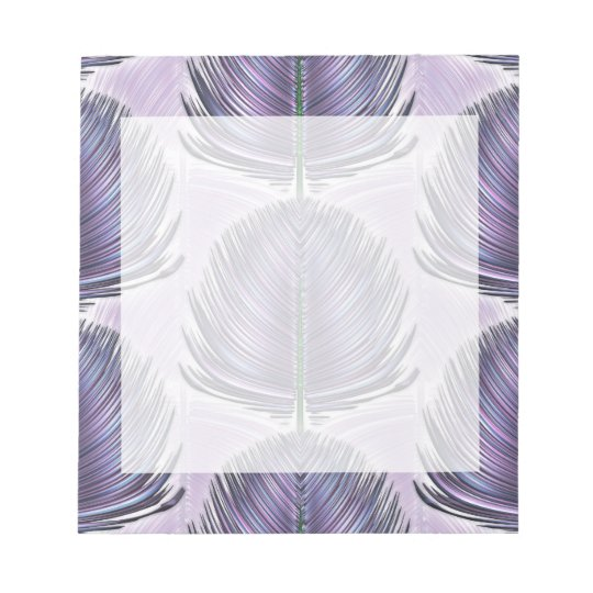 Stylized Peacock Feather - purple Notepad