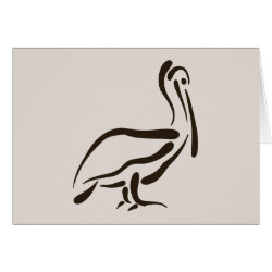 Greeting Card with Stylized Pelican design