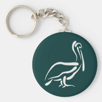 Stylized Pelican Keychain