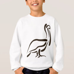 Kids' American Apparel Organic T-Shirt with Stylized Pelican design