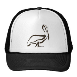 Trucker Hat with Stylized Pelican design