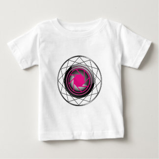 Stylized photography symbol in pink and black baby T-Shirt