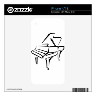 Stylized Piano iPhone 4 Decal
