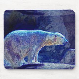 Stylized Polar Bear Mouse Pad