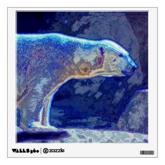 Stylized Polar Bear Wall Sticker