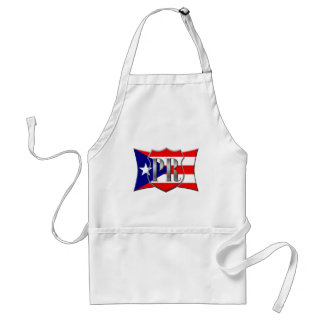Stylized Puerto Rican Flag Adult Apron