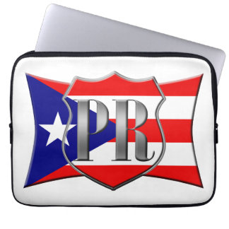 Stylized Puerto Rican Flag Laptop Computer Sleeve