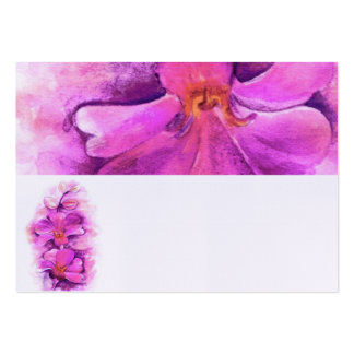 Stylized radiant orchid name place cards
