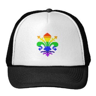 Stylized Rainbow Fleur de Lis Trucker Hat