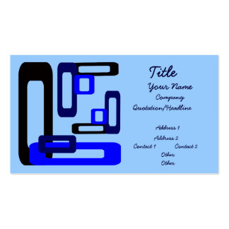Stylized Rectangles Blue/Black Business Card