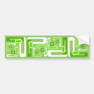 Stylized Rectangles Green/White Bumper Sticker