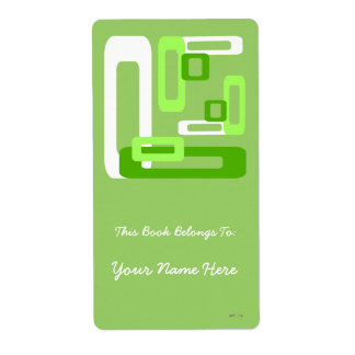 Stylized Rectangles Green/White Label