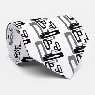 Stylized Rectangles Grey/Black Tie