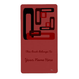 Stylized Rectangles Red/Black Label