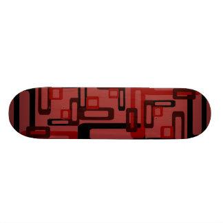Stylized Rectangles Red/Black Skateboard Deck