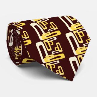 Stylized Rectangles Yellow Neck Tie