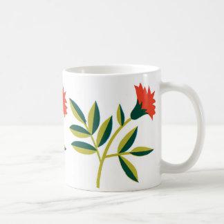 Stylized Red Flower Coffee Mug