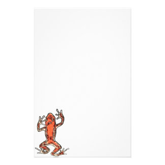 Stylized red frog stationery