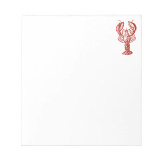 Stylized Red Lobster Notepad