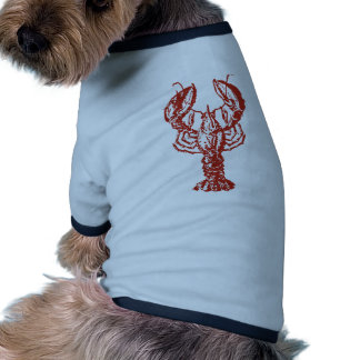 Stylized Red Lobster Pet Shirt